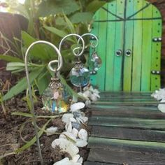 Lantern With Fairy Lights, Fairy Lanterns, Garden Lanterns, Mini Fairy Garden, Fairy Garden Houses, Minecraft Banner Designs, Fairy Garden Furniture, Fairy Crafts, Fairy Doors