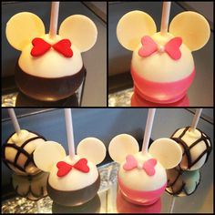 Minnie & Mickey Mouse Cakepops