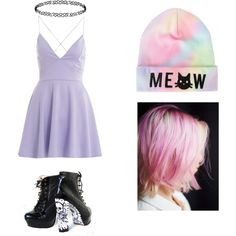 ♡ Pastelgoth ♡ by psychomello on Polyvore featuring polyvore fashion style AX Paris Dorothy Perkins Free People