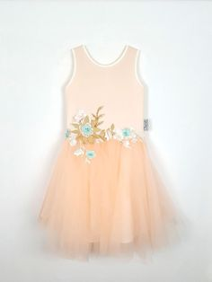 Cut from the prettiest pastel peach fabrics, this dress has exquisite floral applique in gold twinkling tones and embellished lace. She'll be picture perfect for any special occasion in this girly princess look. Pretty Pastel, Special Occasion Dresses, Christening, Party Dress, Flower Girl Dresses, Hair Accessories, Girly, Princess, Wedding Dresses