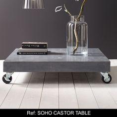 soho castor cement table