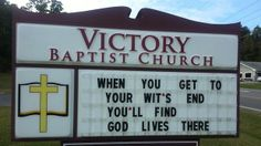 When you get to your wit's end - you'll find God lives there