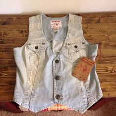 For Sale: NWT True Religion Denim Vest for $100