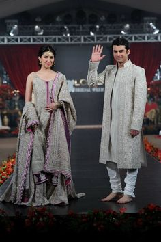 Mahira Khan and Fawad Khan for Umar Sayeed fashion show    loveeeee    #Pakistan #Humsafar
