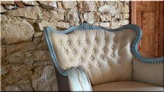 Vintage bútor, újjá épített kényelmes fotel