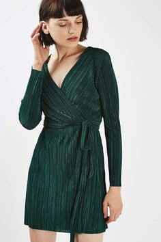 PETITE Plisse Wrap Over Dress - New In This Week - New In - Topshop Europe