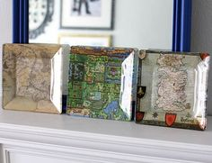 Geeky Cool Map Plates | 21 DIY Projects Your Boyfriend Wishes You Would Make