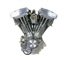 The Harley-Davidson Evolution V-twin was introduced in Here's a look at the technical elements and developments that allowed the engine to save the company. Harley Davidson Engines, Harley Davidson Forum, Motos Harley Davidson, Harley Davidson Street Glide, Bike Engine, Classic Motors, Cylinder Head, Patent Prints, Canvases