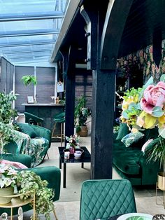 Our Decadent Forbidden Bloom Garden Room - The Interior Editor Office Interior Design, Interior Decorating, Home Design, Design Ideas, Botanical Interior, Conservatories, Green Rooms, Open Plan Living, Eclectic Style