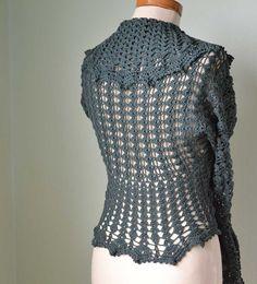 crochet shrug in cotton