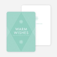 Diagonal Pattern Corporate Holiday Cards from Paper Culture