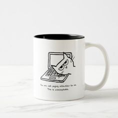 Angry Cat Demands Attention Funny Mug