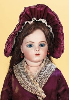 Antique Dolls and Toys of LEGO - Session 2: 428 Very Beautiful French Bisque Bebe by Bru with Labeled Body