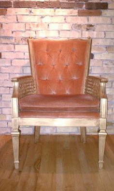 """The Velveteen Owl: Velvet Chair """"Paint-Over"""""""
