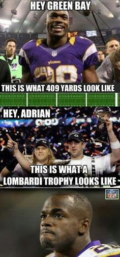 Maybe if you didn't fumble all the time you can see a Lombardi trophy up close and personal Packers Memes, Packers Funny, Go Packers, Green Bay Packers Fans, Packers Football, Packers Baby, Greenbay Packers, Football Season, Alabama Football