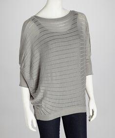 Gray Stripe Shelby Dolman Sweater