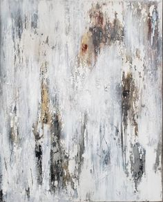 Modern Abstract Painting 24 x 30 Contemporary Art By Amy Grunge Outfits, Art Grunge, Console Table Living Room, Modern Art, Contemporary Art, Distressed Texture, Shades Of White, Aesthetic Art, Modern Minimalist