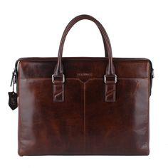 Amazon.com: Banuce Men's Waxy Leather Briefcase Attache 12 Laptop: Clothing$150