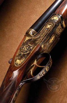 The NRA museum is opening a gun display that will unveil rare guns from entrepreneur and publisher Robert E. Weapons Guns, Guns And Ammo, Side By Side Shotgun, Gun Art, Custom Guns, Hunting Rifles, Firearms, Shotguns, Revolvers