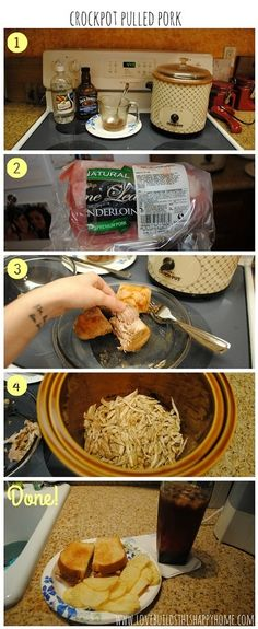 Crockpot Pulled Pork Recipe / How-to