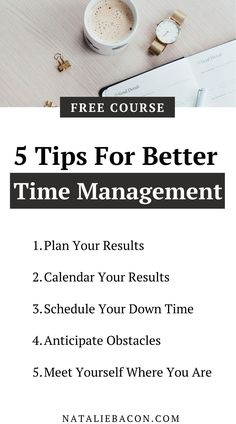 If you stuggle with time management and think there is never enough time, check out these five tips. I dive deep into time management in this free course so you design your dream life.