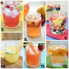 12 Summer Drink and Cocktail Recipes ~ Says: 6 are non-alcoholic and are perfect for the whole family! And really, a lot of these can easily become alcoholic or non-alcoholic if you want them to. I'm all about the versatility