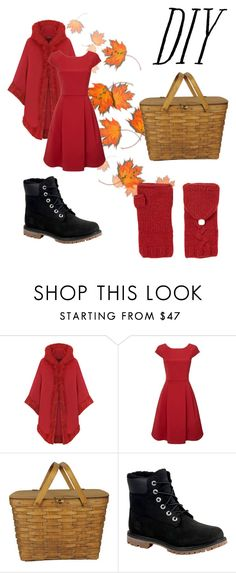 """Little red riding hood"" by tmtt ❤ liked on Polyvore featuring WearAll, Phase Eight, Timberland, Lowie, halloweencostume and DIYHalloween"