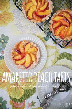 Amaretto Peach Tarts | Pure Ella : gluten-free, wheat-free, dairy-free, egg-free, vegan