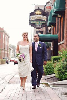 Strolling the streets of Charlottetown - a must for wedding shots! #Charlottetown #PEI #EastCoast #Wedding