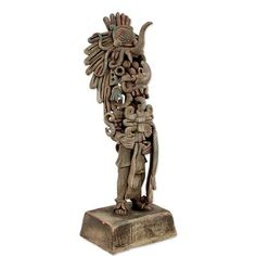 Ceramic statuette, 'Maya Lord Chaac' - Maya God of Rain Ceramic Statuette Crafted by Hand