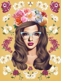 Girls in flowers (by Erick Davila)  DESIGN STORY: |Tumblr |...