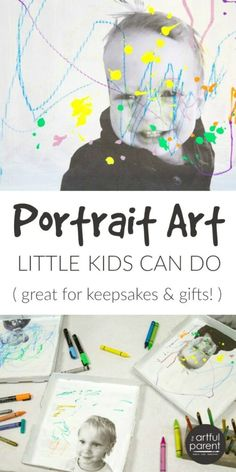 Self portrait art is usually best done with older kids, but here's an art activity that even toddlers can do. Plus it makes a great keepsake or gift! #artsandcrafts #kidsart #kidscrafts #artforkids  #kidsactivities #toddlers #preschoolers