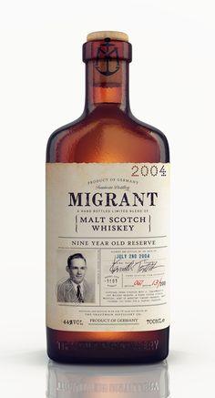 Whisky Migrante de Envases del Mundo - paquete creativo Design Gallery