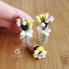 """""""Miniature tulips (Easterday) Часть пасхальной композиции: тюльпаны."""""""