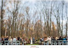 Early November Glen ceremony. Photo Credit: Jensen Photography #brandywinemanorhouse