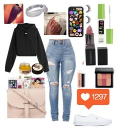 """""""Emoji🙄"""" by queenjamil on Polyvore featuring Casetify, Off-White, Maybelline, Smashbox, Vans, Bobbi Brown Cosmetics, MAC Cosmetics and Disney"""