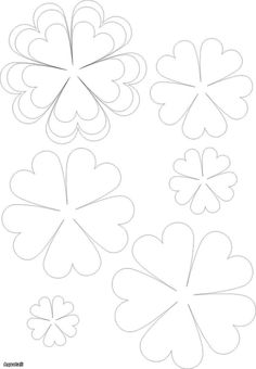 fleurs en papier – The World Paper Flowers Diy, Handmade Flowers, Felt Flowers, Flower Crafts, Diy Paper, Fabric Flowers, Paper Art, Paper Crafting, Felt Flower Template