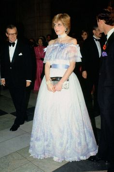 Diana in Belville-Sassoon.  The ultimate fairy princess gown.  September 1981.