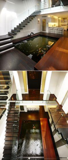 Interior Design with Indoor Ponds