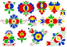 Illustration about Moravian folk ornaments (South Moravia, Czech Republic). Illustration of flower, decorative, bohemian - 37855852 Adult Crafts, Diy And Crafts, Fotografia Online, African Crafts, House Ornaments, Folk Embroidery, Arte Popular, Online Gratis, Flower Images