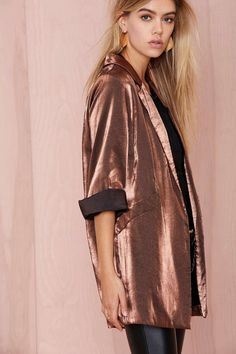Donatella Metallic Blazer