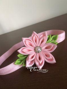 Diadema rosa vendas venda del bebé venda para por MagaroCreations