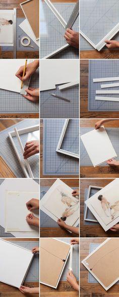 DIY Floating Frame Tutorial For $6! | Floating frame, Canvases and Craft