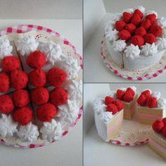Strawberry Gateau Felt Food Cake