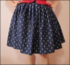 Box Pleat Skirt Tutorial from Hart's Fabric