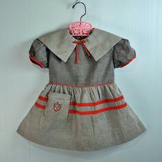 Vintage toddler dress, 1940's - 1950's.