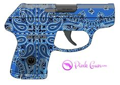 Pink Gun -  Ruger LCP .380 semi-automatic pistol decoration concept at http://www.PinkGun.com