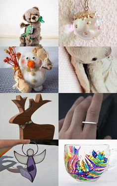 Christmas, christmas, christmas gifts... by Lena Akodis on Etsy--Pinned with TreasuryPin.com