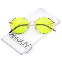 7d0eda419c Amazon.com  zeroUV - Bold Full Metal Frame Color Tinted Flat Lens Round  Sunglasses