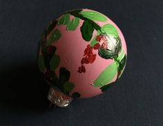Glass Ornament  Floral Design IV by KatherineLorraineArt on Etsy